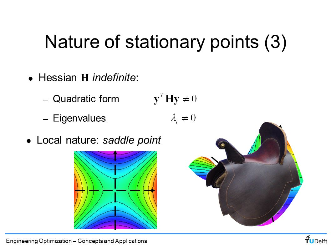 Nature of stationary points (3)