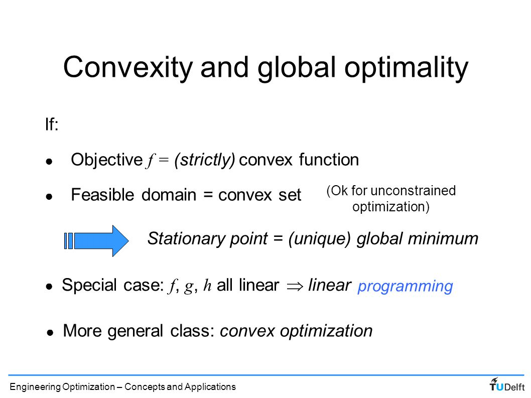 Convexity and global optimality