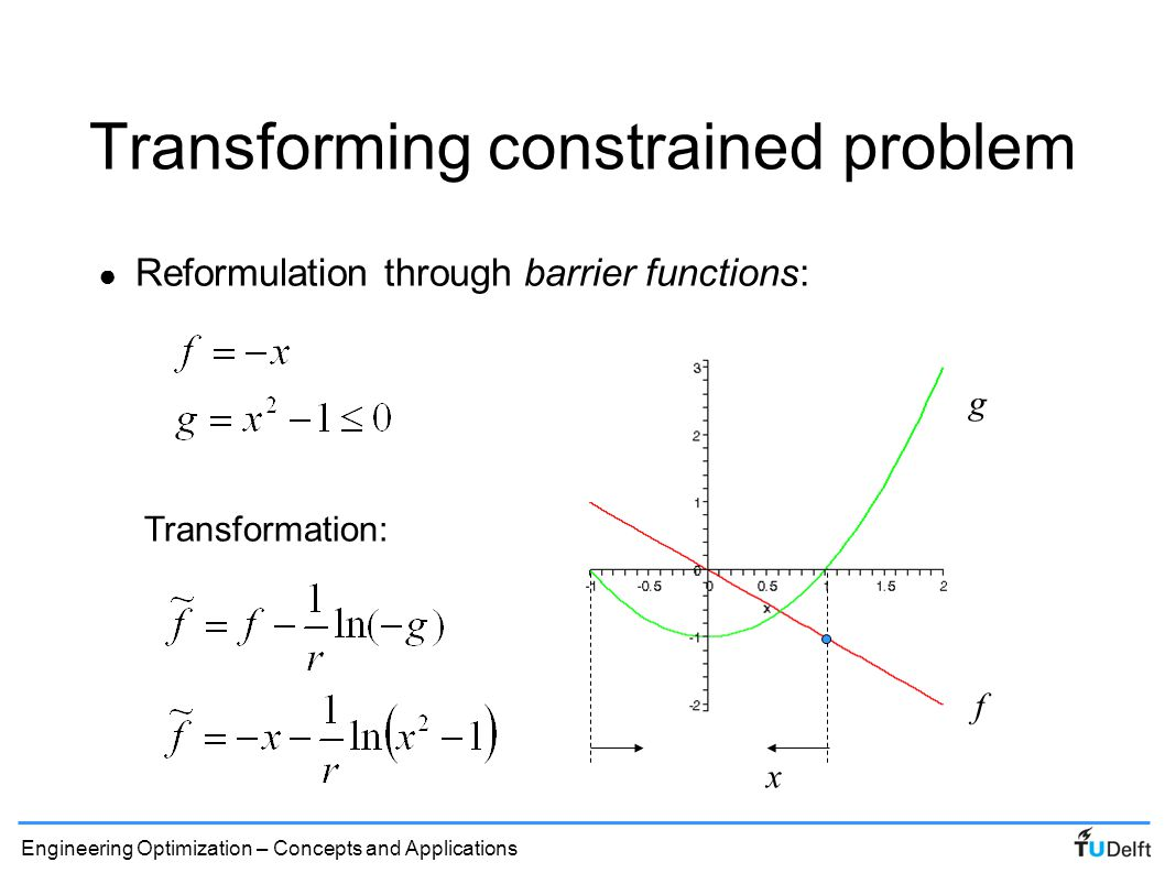 Transforming constrained problem