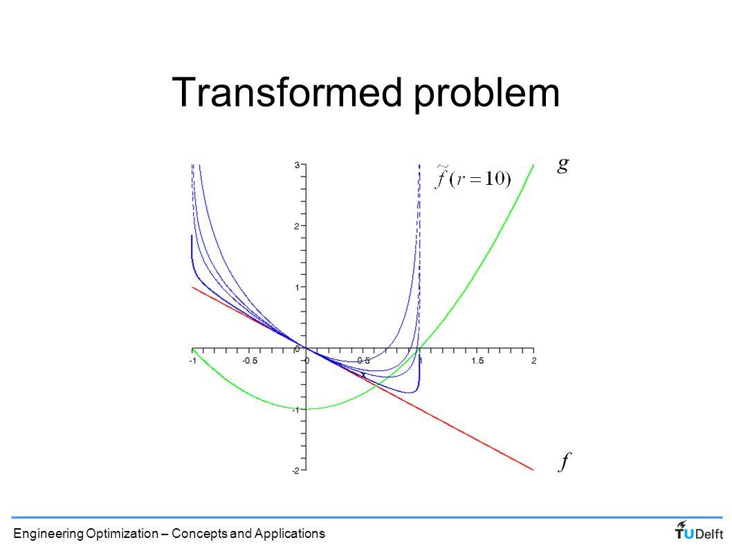 Transformed problem g f