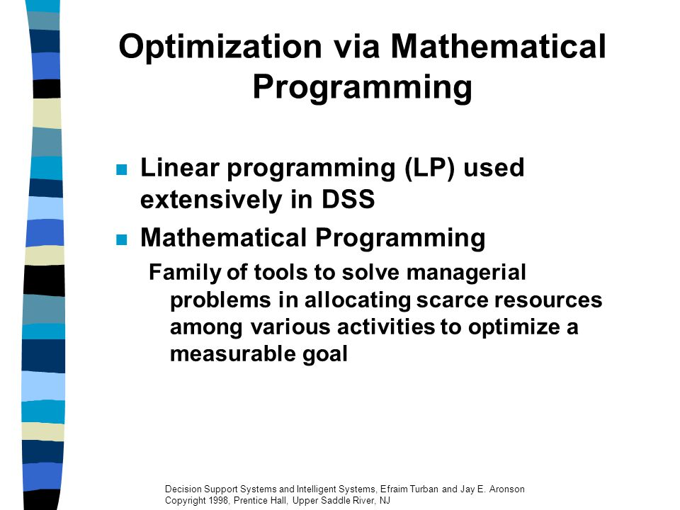 Optimization via Mathematical Programming