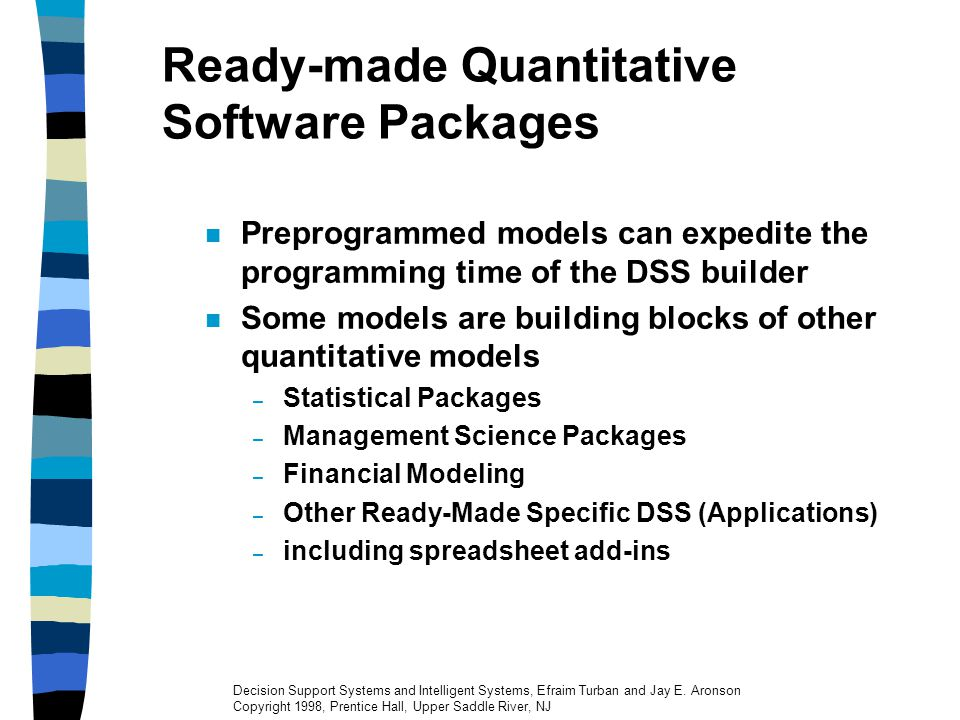 Ready-made Quantitative Software Packages