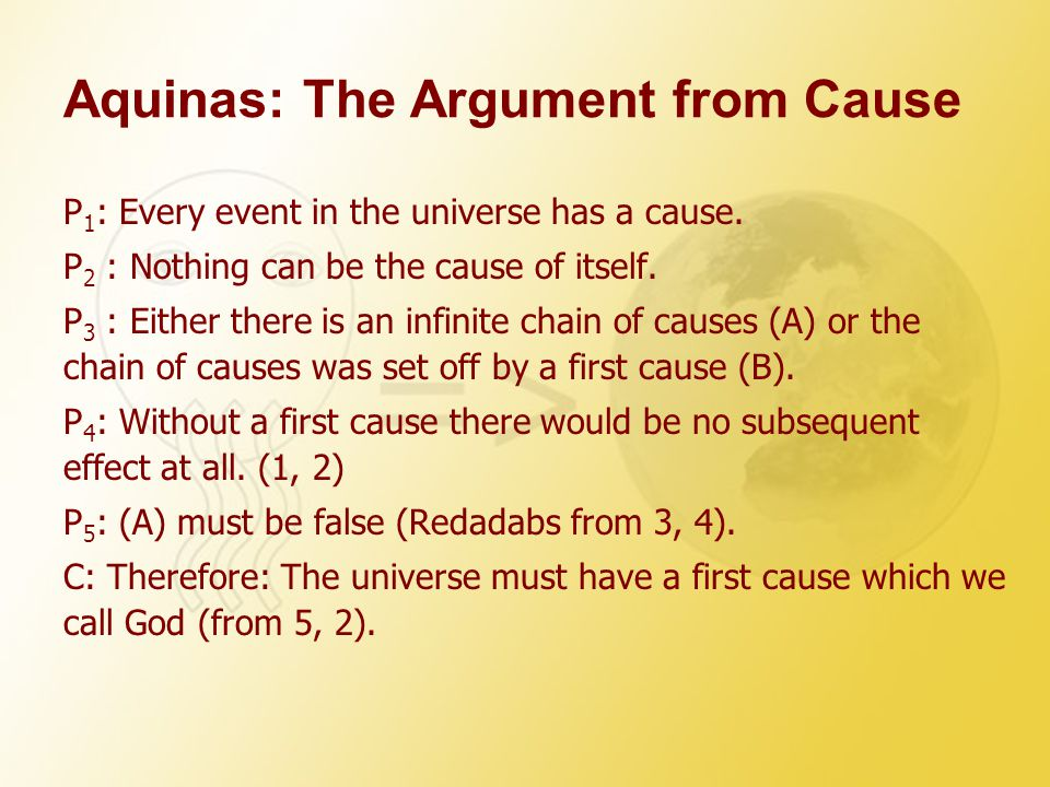 Aquinas: The Argument from Cause