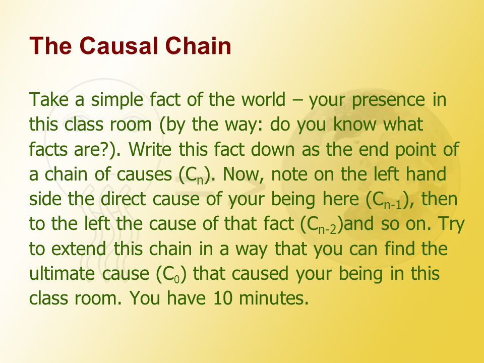 The Causal Chain