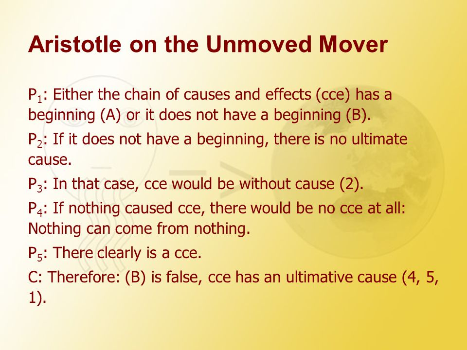 Aristotle on the Unmoved Mover