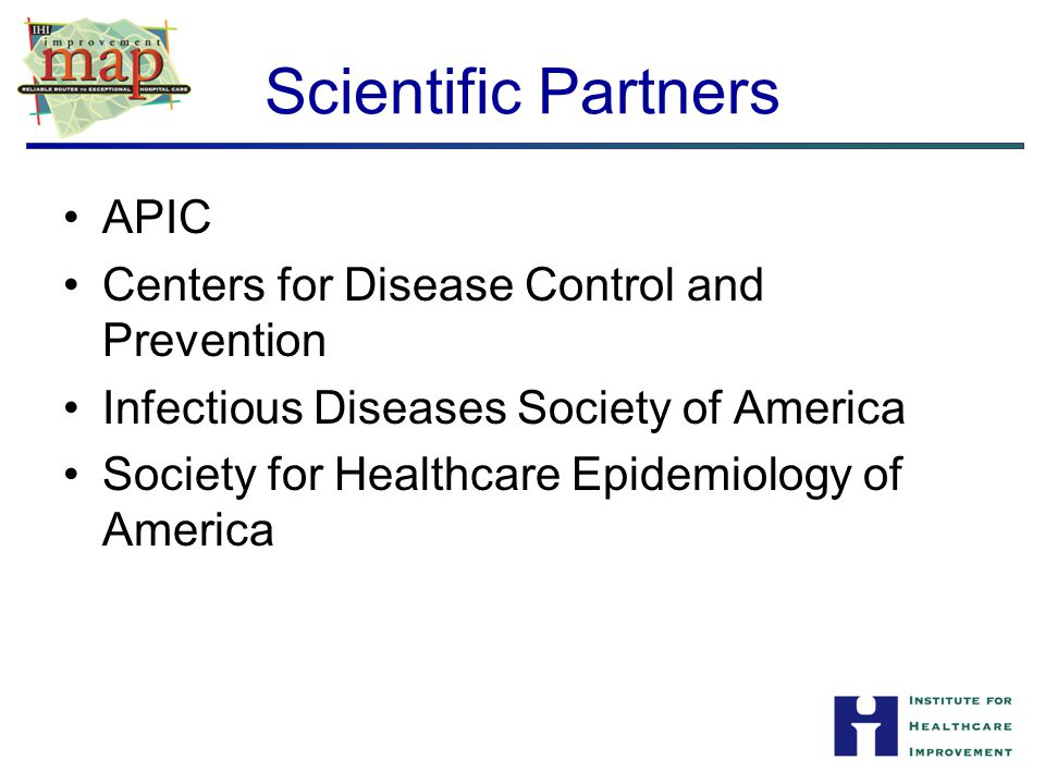 Scientific Partners APIC Centers for Disease Control and Prevention
