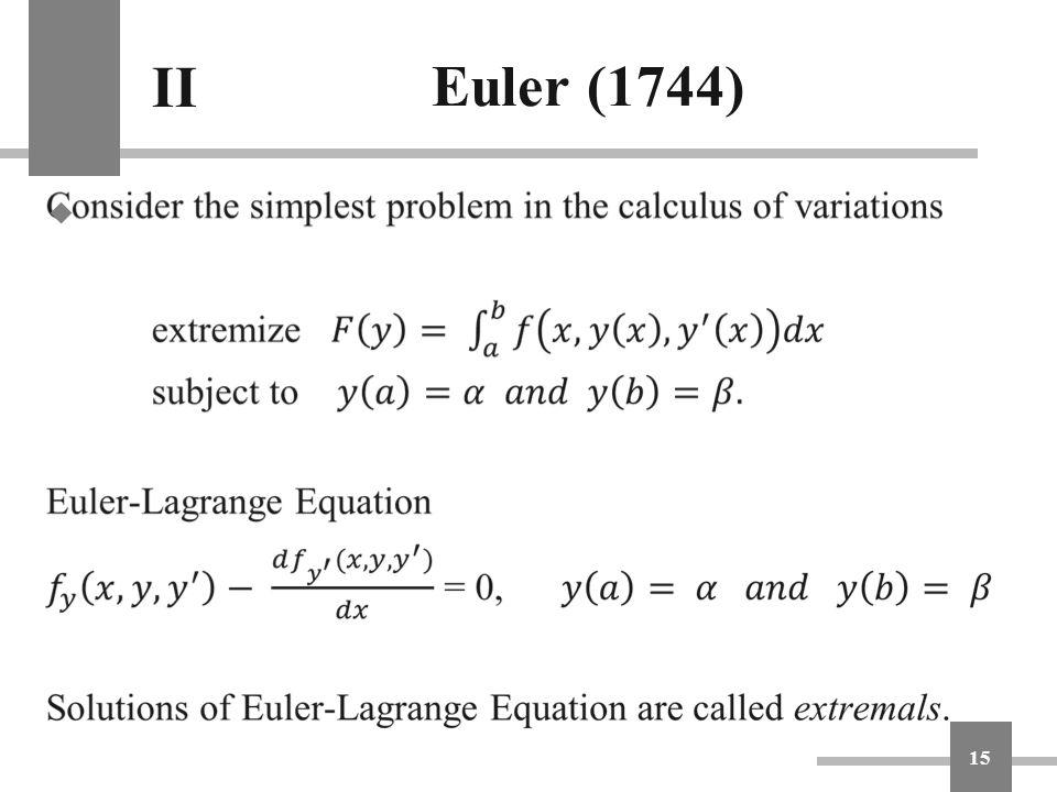 Euler (1744) II