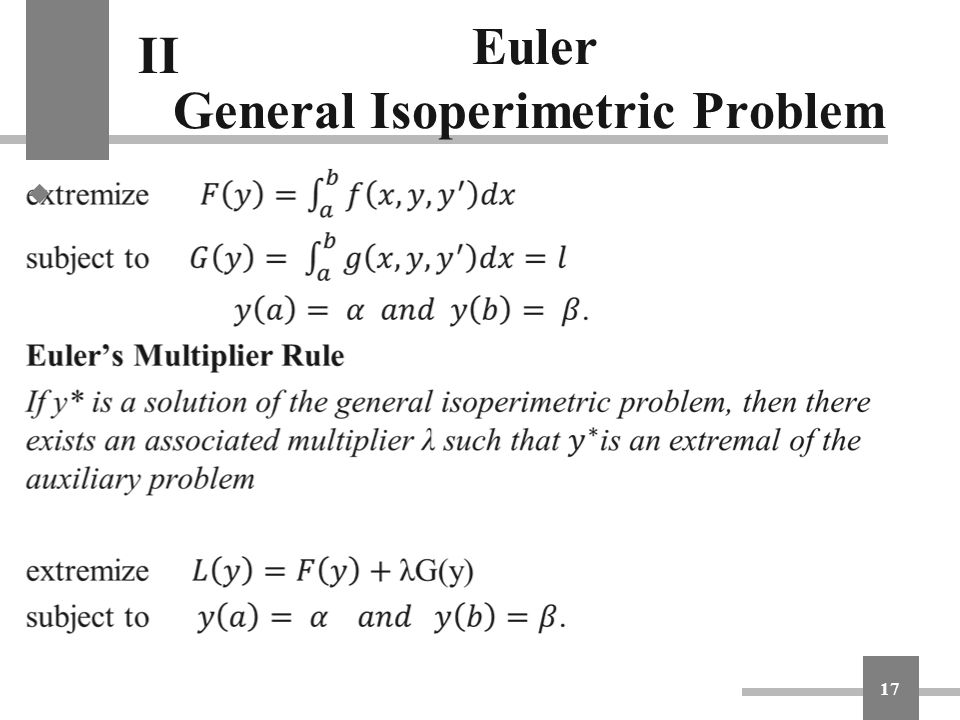 Euler General Isoperimetric Problem