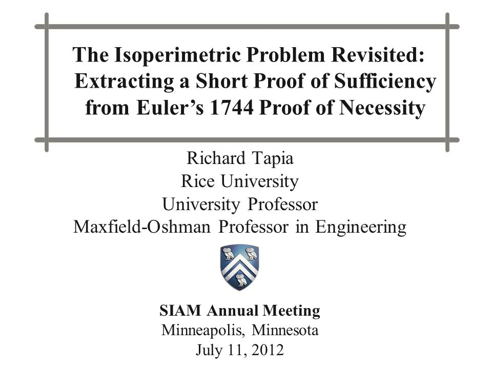 The Isoperimetric Problem Revisited: Extracting a Short Proof of Sufficiency from Euler's 1744 Proof of Necessity