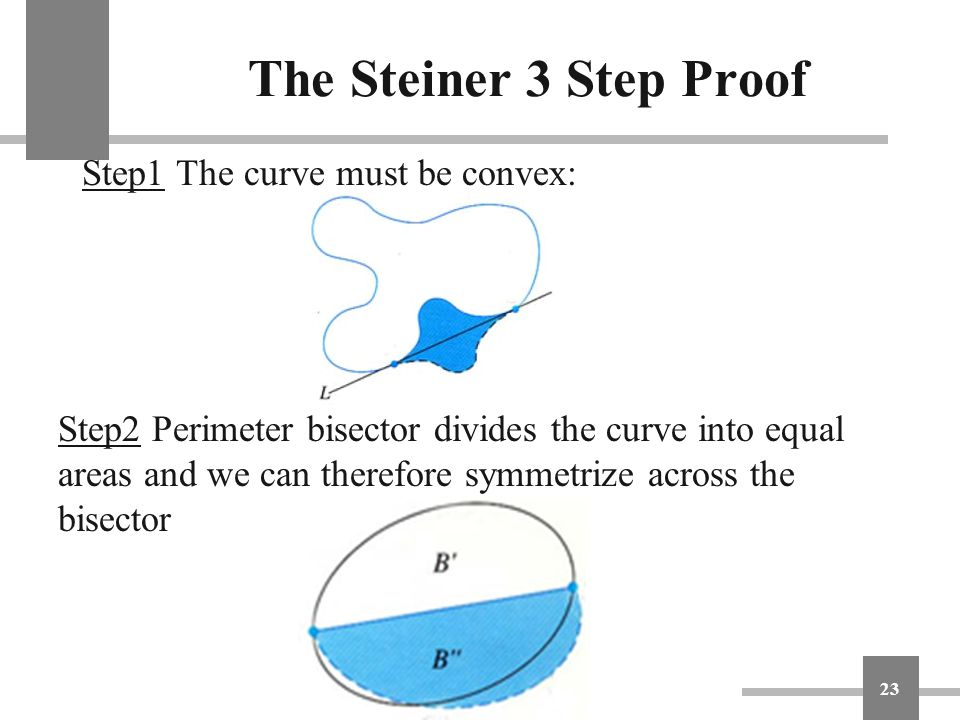 The Steiner 3 Step Proof Step1 The curve must be convex: