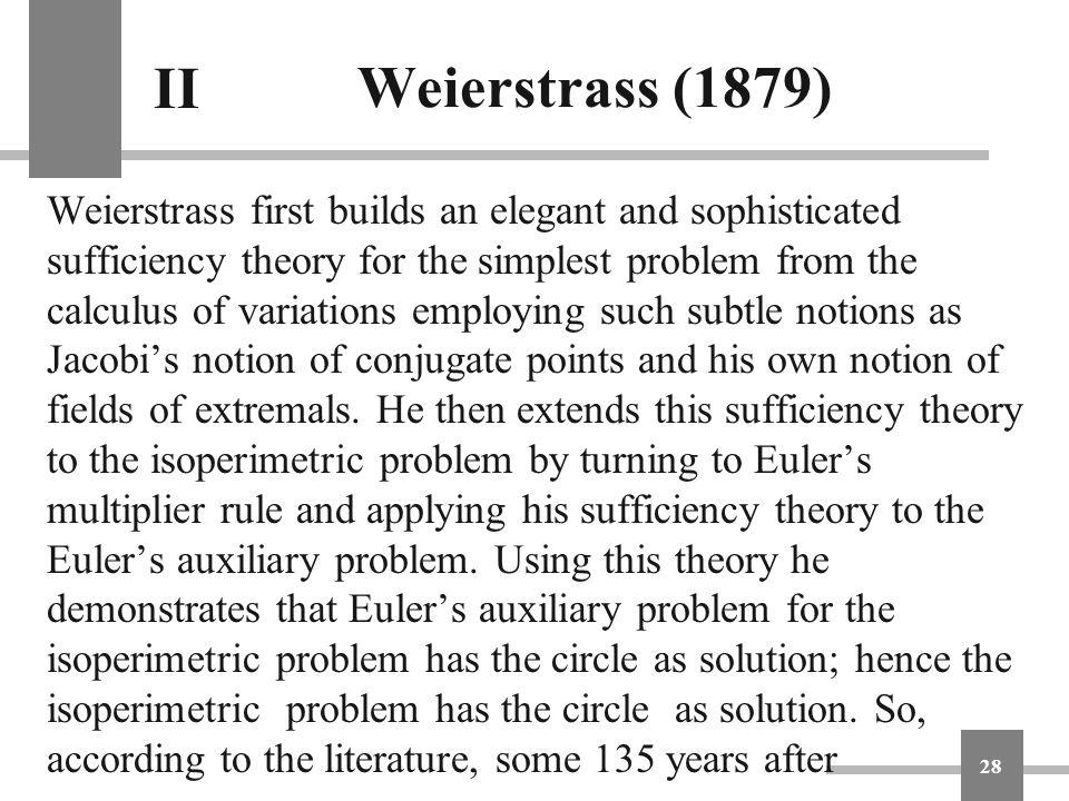 Weierstrass (1879) II.