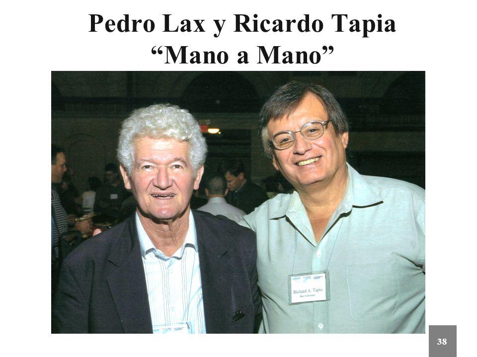 Pedro Lax y Ricardo Tapia Mano a Mano