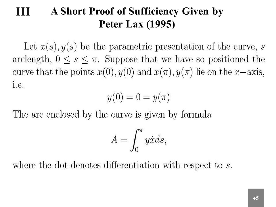 A Short Proof of Sufficiency Given by