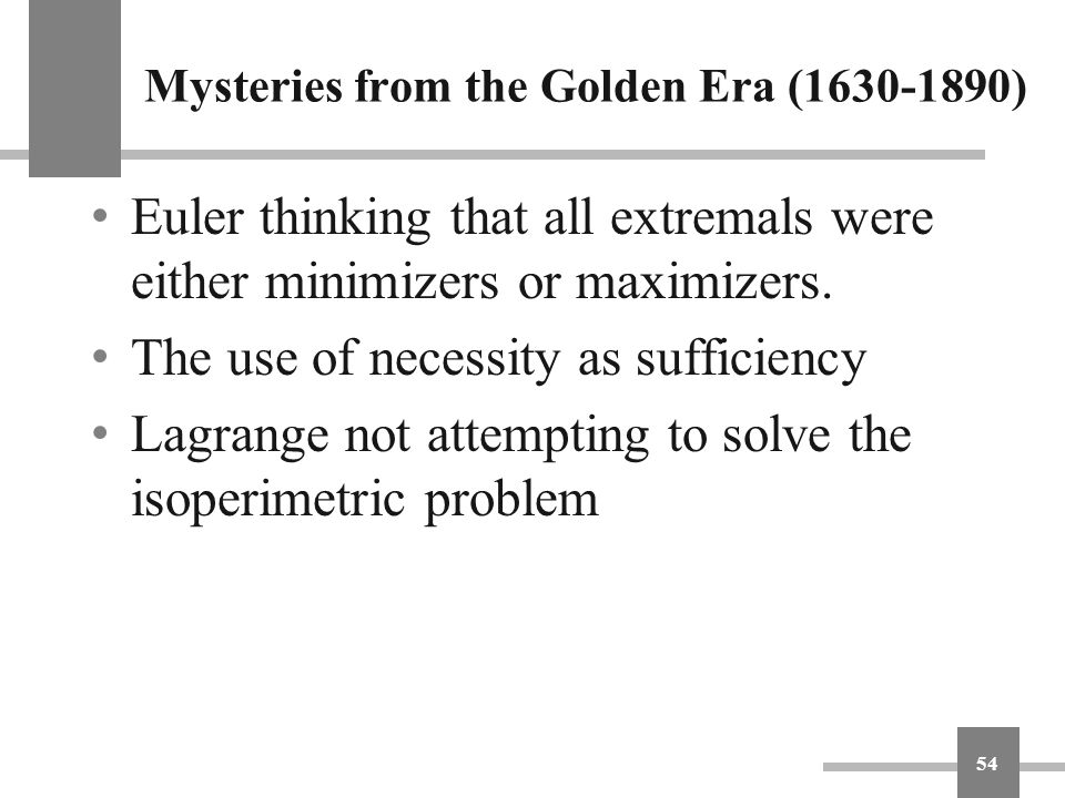 Mysteries from the Golden Era (1630-1890)