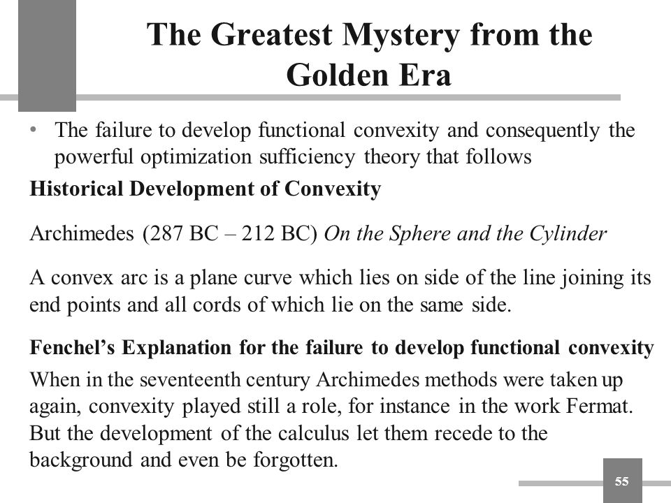 The Greatest Mystery from the Golden Era