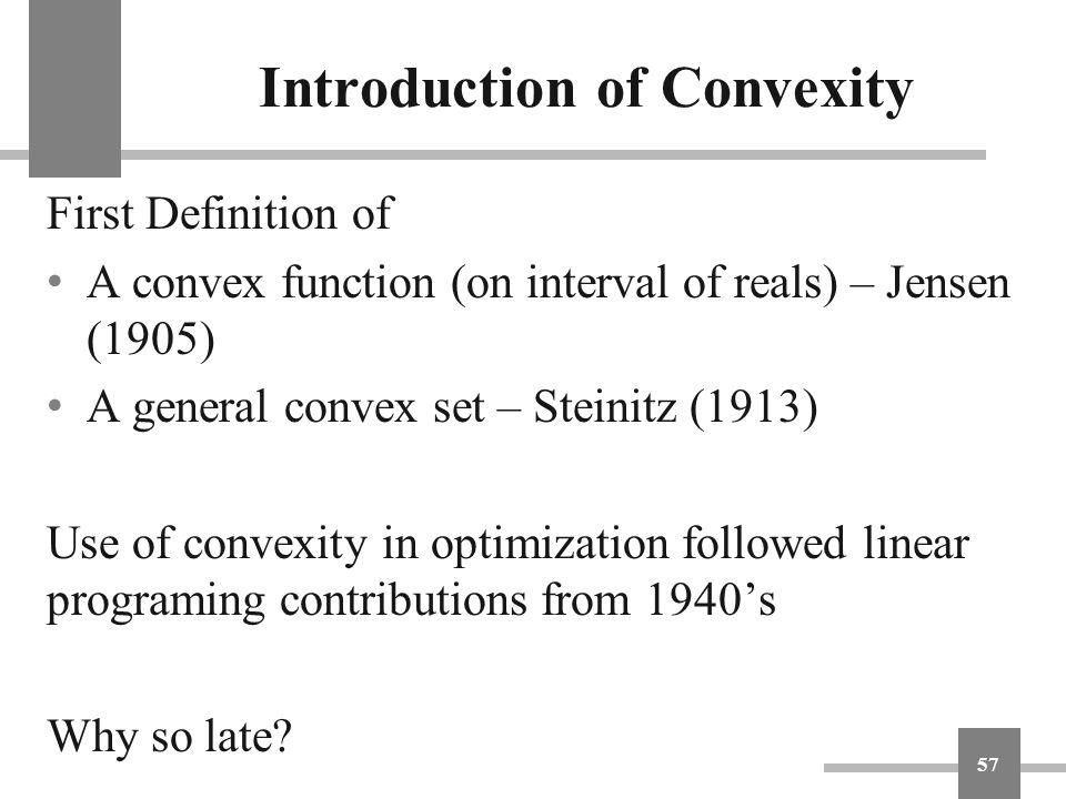 Introduction of Convexity