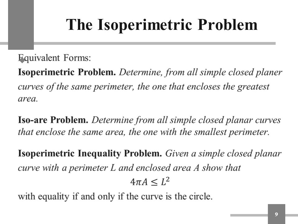 The Isoperimetric Problem