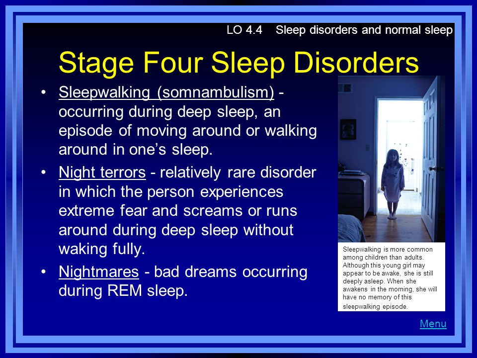 Stage Four Sleep Disorders