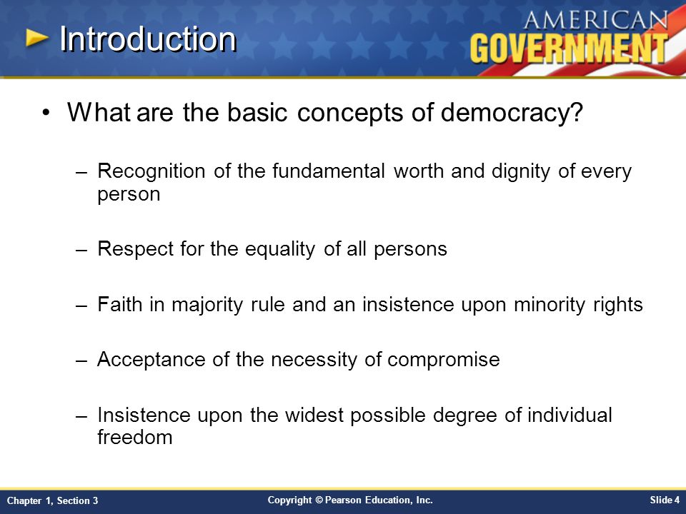 Introduction What are the basic concepts of democracy