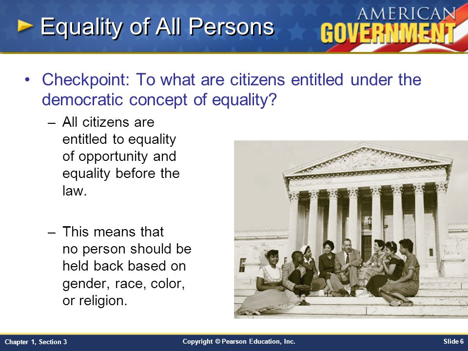 Equality of All Persons
