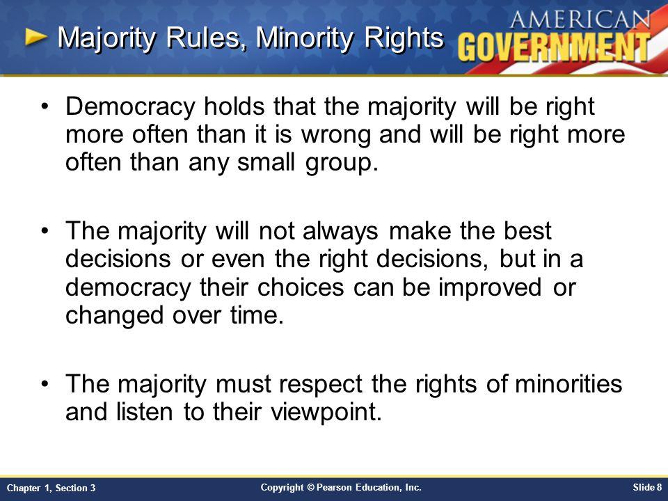 Majority Rules, Minority Rights