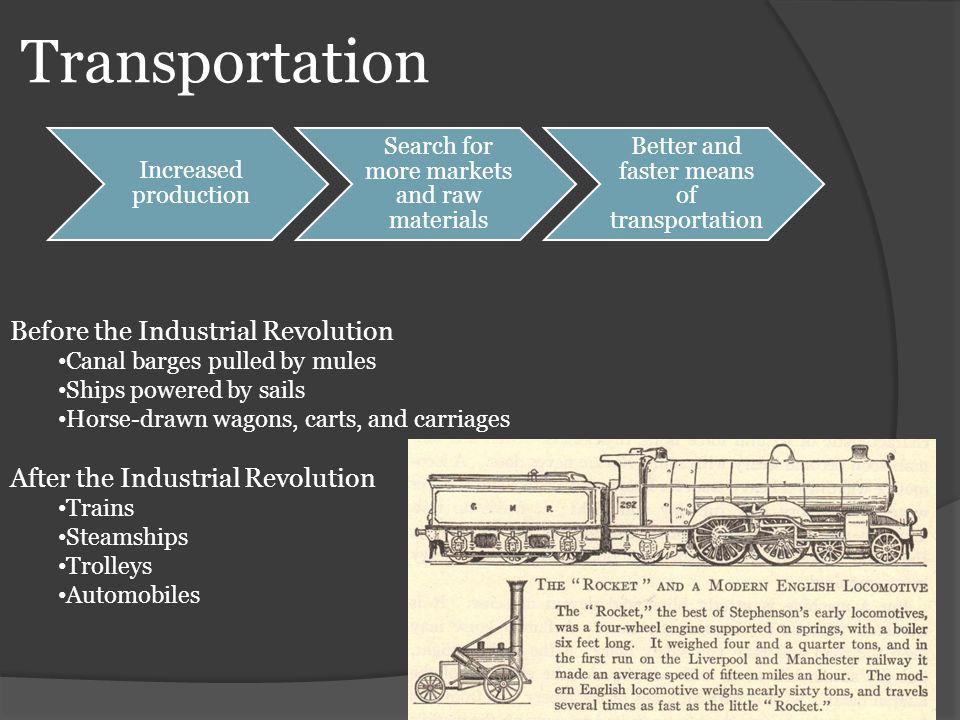 Transportation Before the Industrial Revolution