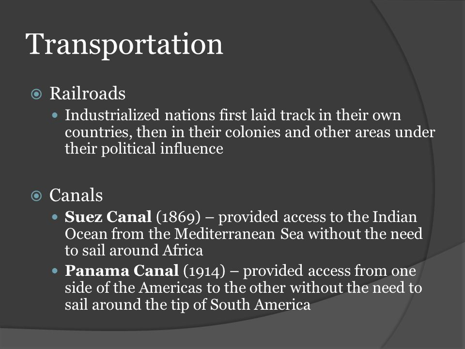 Transportation Railroads Canals