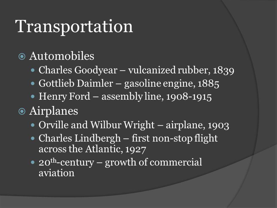Transportation Automobiles Airplanes