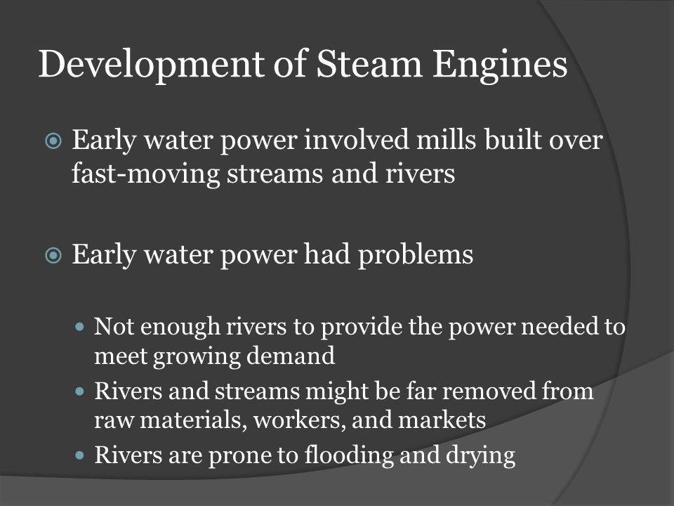 Development of Steam Engines