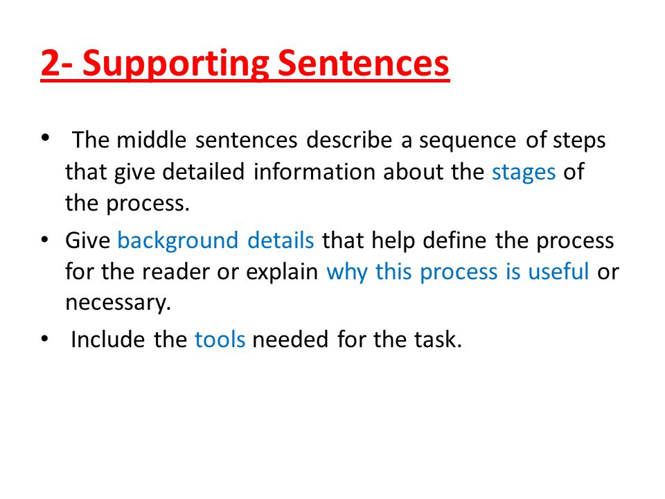 2- Supporting Sentences