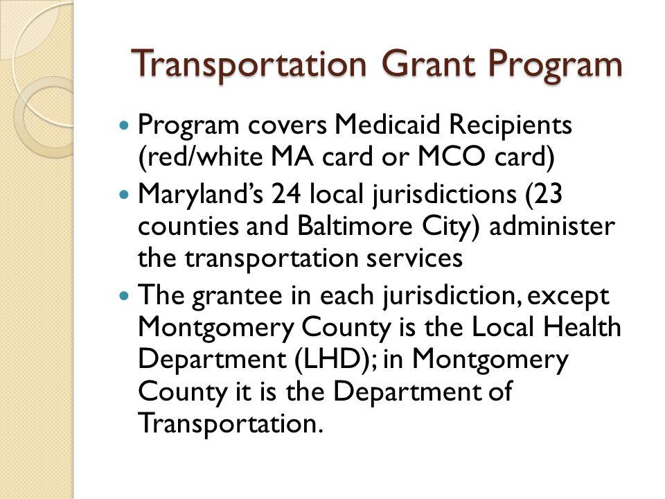 Transportation Grant Program