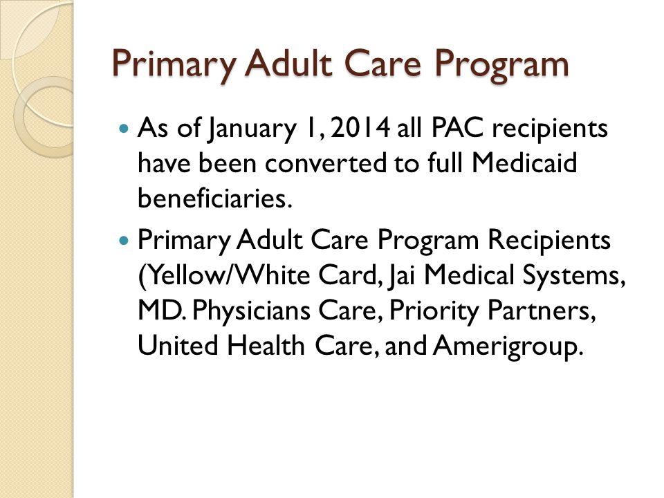Primary Adult Care Program