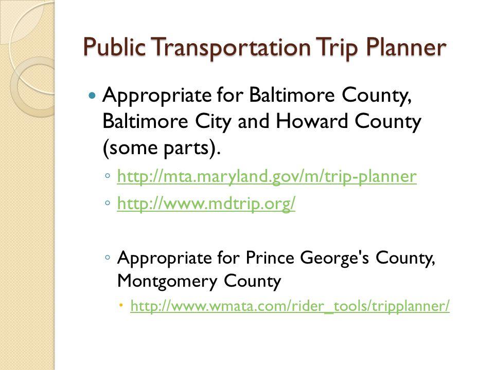 Public Transportation Trip Planner