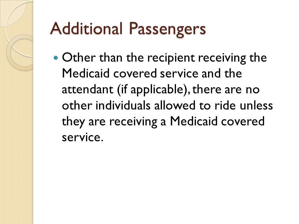 Additional Passengers