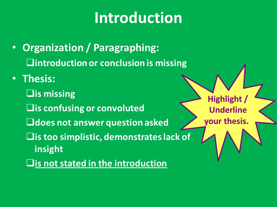 Introduction chapter master thesis ppt