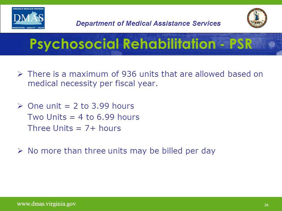Psychosocial Rehabilitation - PSR