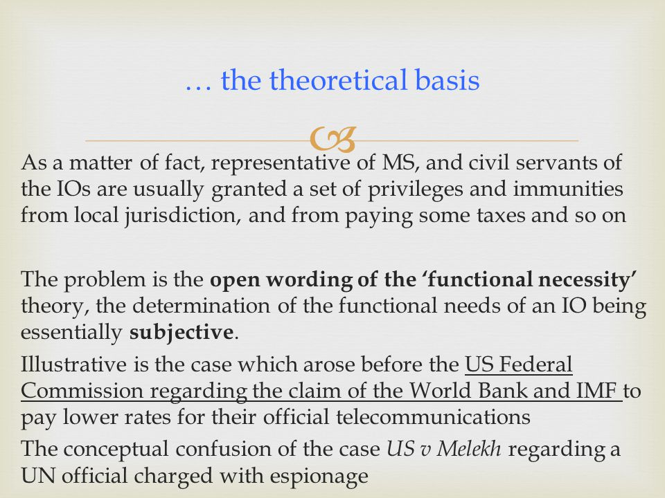 … the theoretical basis