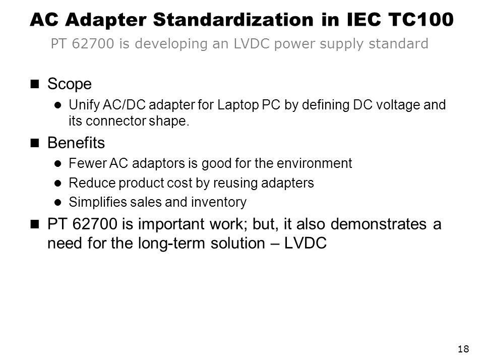 AC Adapter Standardization in IEC TC100