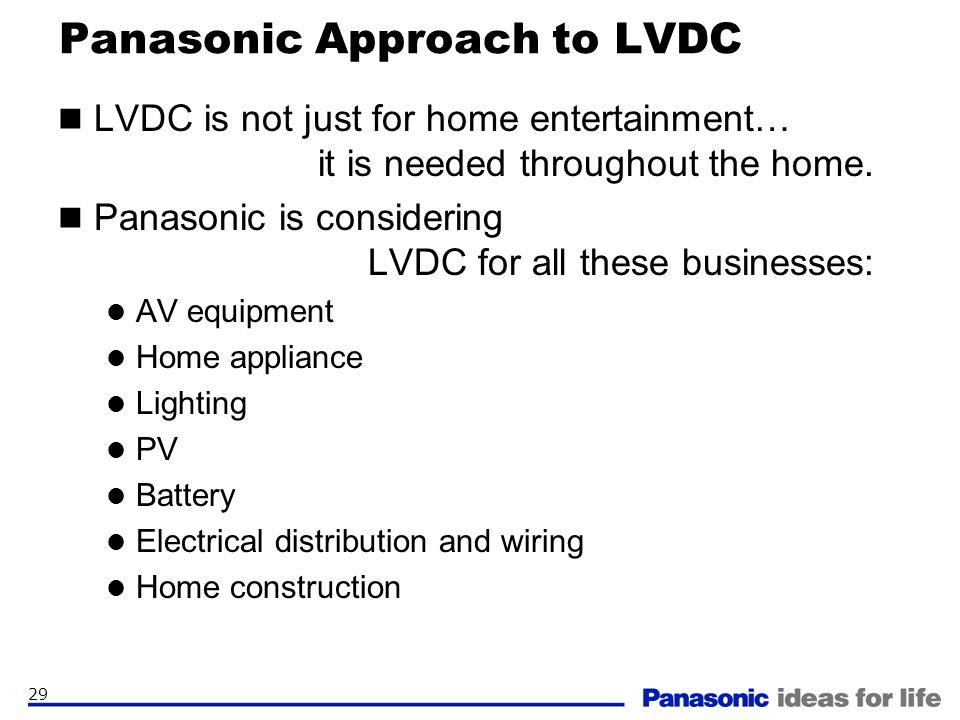 Panasonic Approach to LVDC