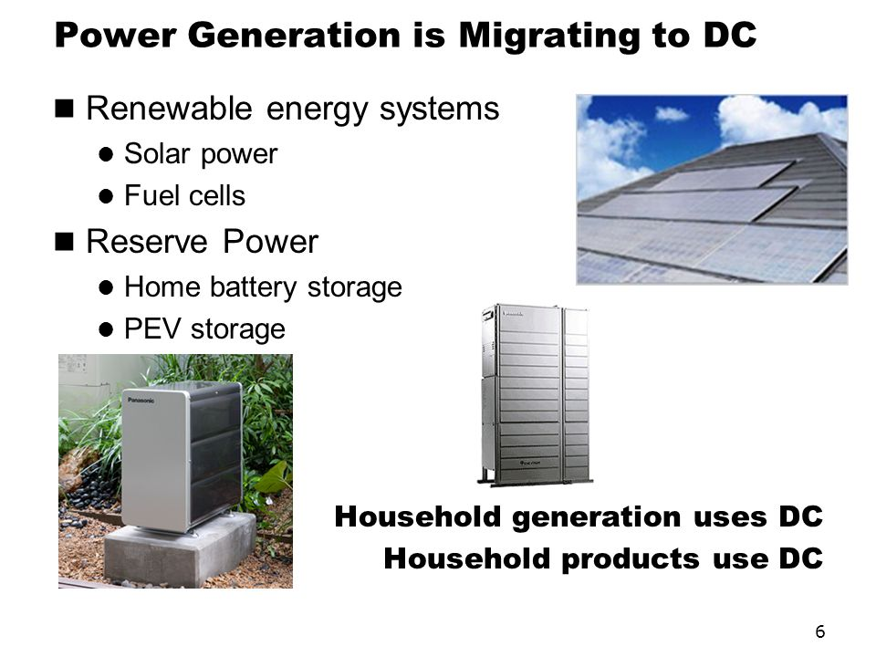 Power Generation is Migrating to DC