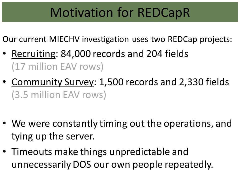 Motivation for REDCapR