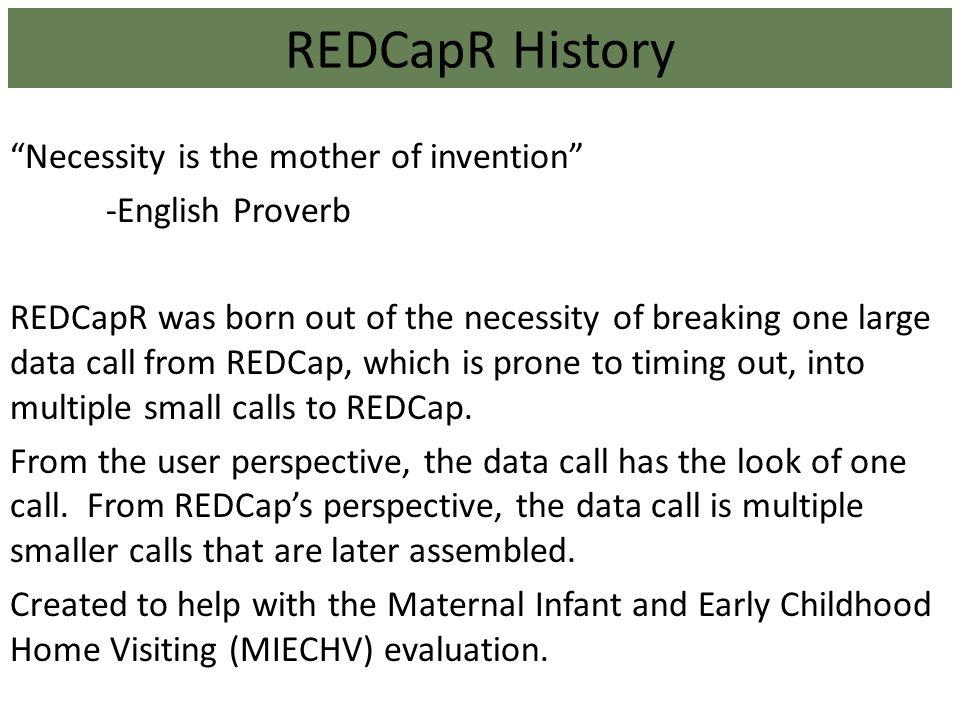 REDCapR History