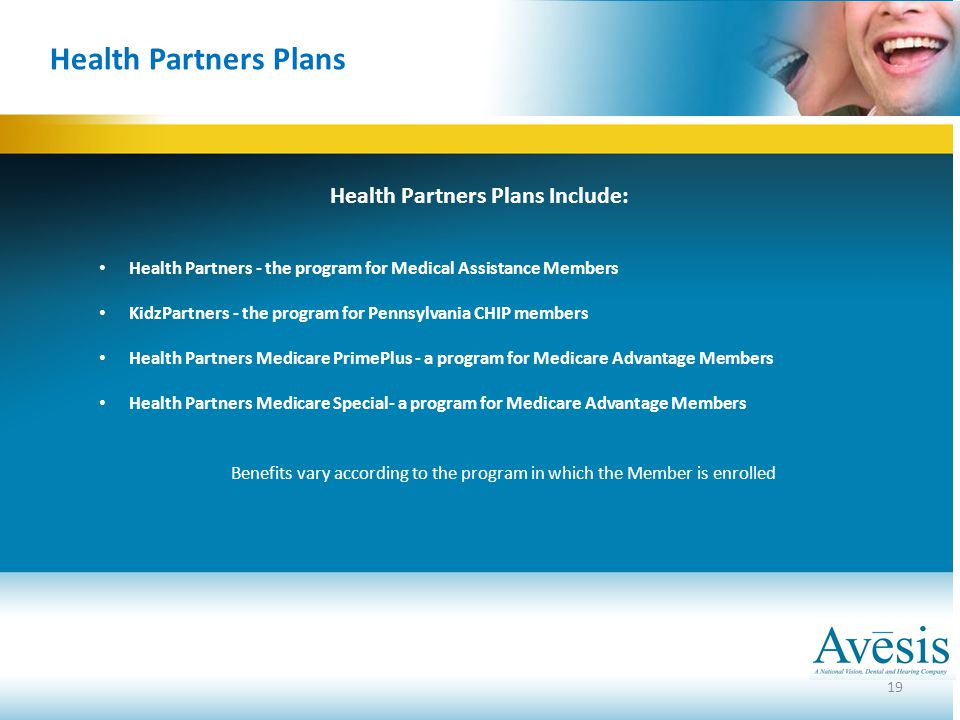 Health Partners Plans Include: