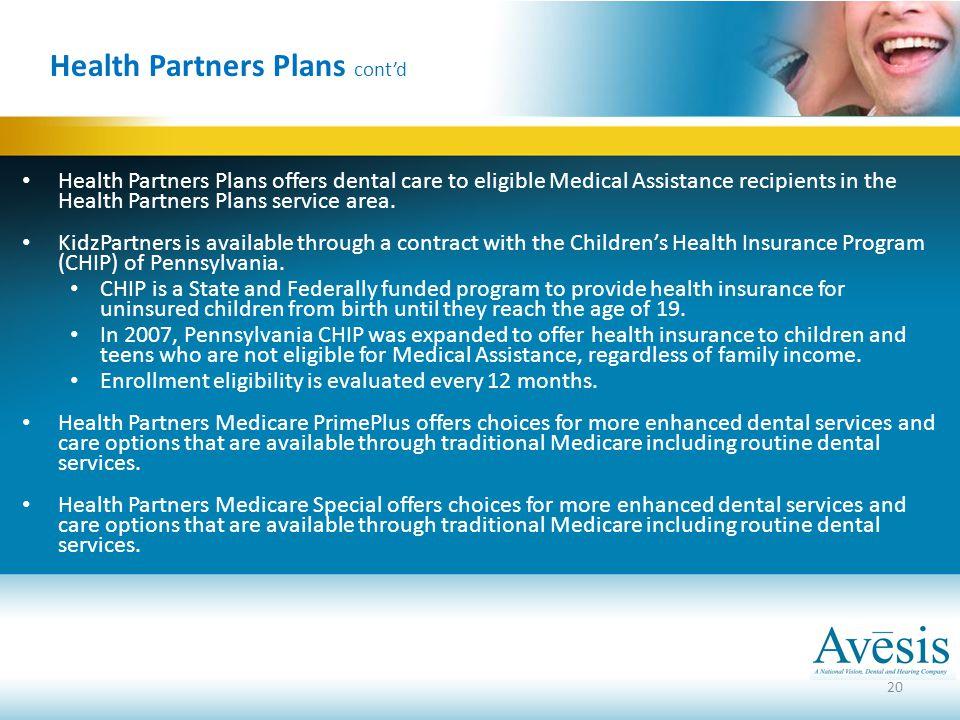 Health Partners Plans cont'd