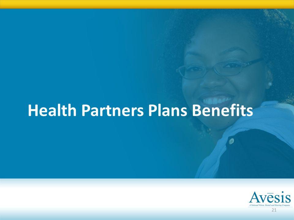 Health Partners Plans Benefits