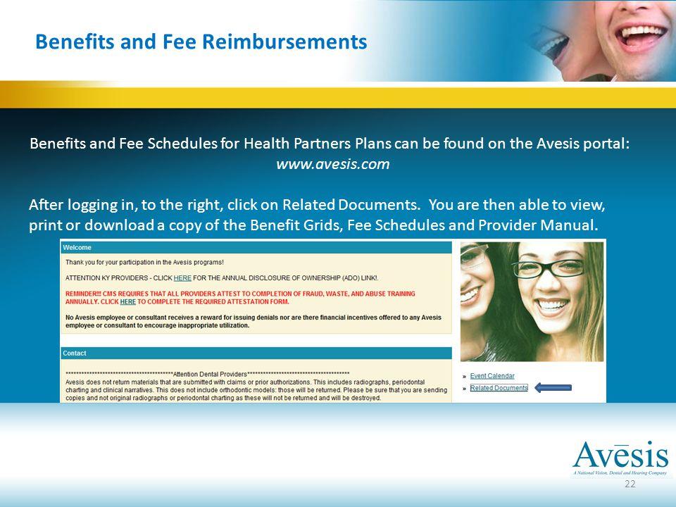 Benefits and Fee Reimbursements