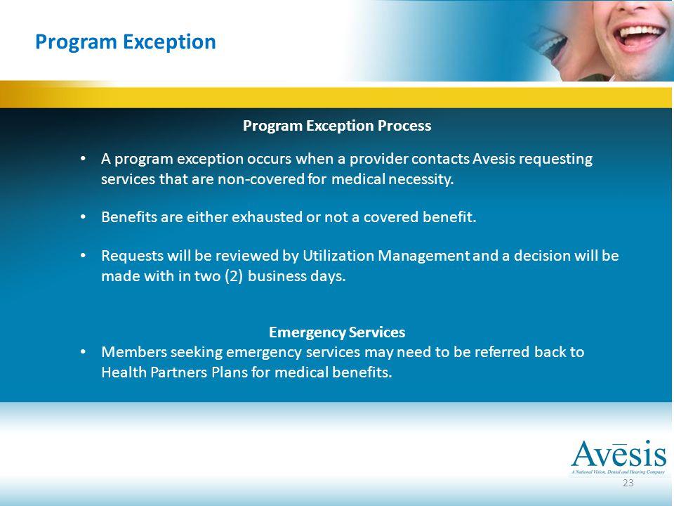 Program Exception Process