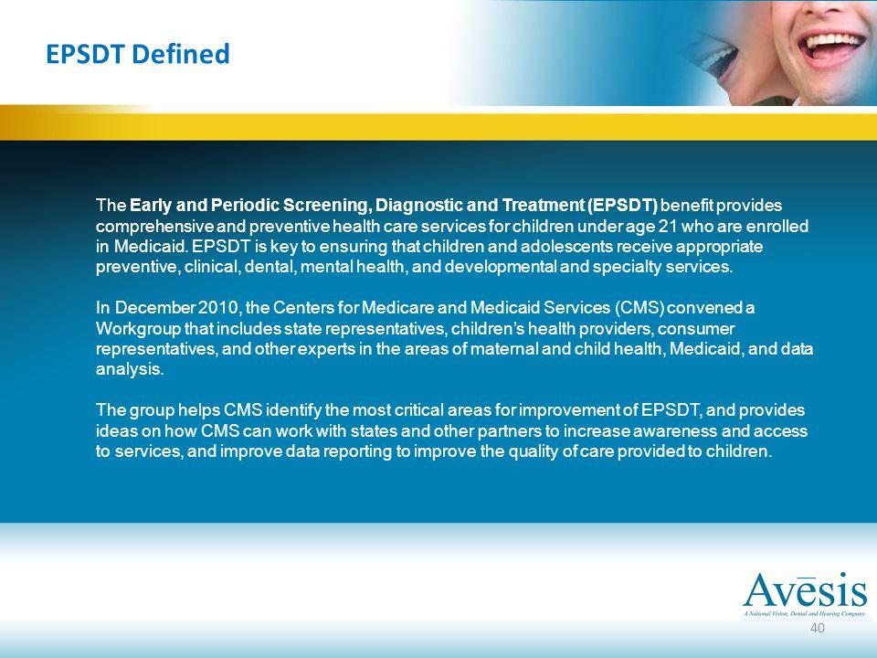 EPSDT Defined