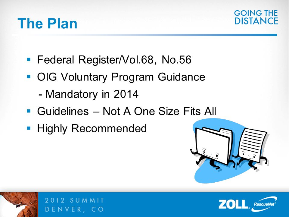 The Plan Federal Register/Vol.68, No.56 OIG Voluntary Program Guidance