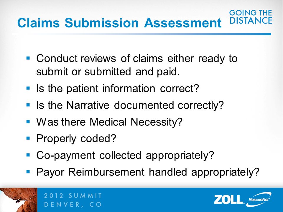 Claims Submission Assessment